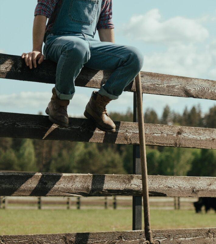 Man on a Fence